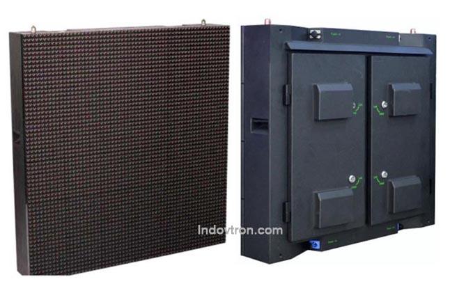 videotron model P16 DIP 346 RGB outdoor led cabinets back untuk luar ruangan